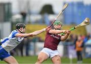 23 February 2020; Niall Burke of Galway in action against Calum Lyons of Waterford during the Allianz Hurling League Division 1 Group A Round 4 match between Waterford and Galway at Walsh Park in Waterford. Photo by Seb Daly/Sportsfile