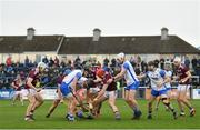 23 February 2020; Players from both sides battle for the sliotar during the Allianz Hurling League Division 1 Group A Round 4 match between Waterford and Galway at Walsh Park in Waterford. Photo by Seb Daly/Sportsfile