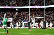 23 February 2020; Jonathan Sexton of Ireland kicks a conversion wide during the Guinness Six Nations Rugby Championship match between England and Ireland at Twickenham Stadium in London, England. Photo by Brendan Moran/Sportsfile Photo by Brendan Moran/Sportsfile