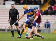 23 February 2020; Alan Flynn and Séamus Callanan of Tipperary in action against Ciarán Doyle of Westmeath during the Allianz Hurling League Division 1 Group A Round 4 match between Tipperary and Westmeath at Semple Stadium in Thurles, Co Tipperary. Photo by Michael P Ryan/Sportsfile