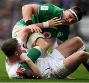 23 February 2020; Owen Farrell of England tussles with CJ Stander of Ireland during the Guinness Six Nations Rugby Championship match between England and Ireland at Twickenham Stadium in London, England. Photo by Ramsey Cardy/Sportsfile Photo by Ramsey Cardy/Sportsfile
