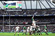23 February 2020; Peter O'Mahony of Ireland and George Kruis of England contest a line-out during the Guinness Six Nations Rugby Championship match between England and Ireland at Twickenham Stadium in London, England. Photo by Ramsey Cardy/Sportsfile Photo by Ramsey Cardy/Sportsfile