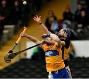 23 February 2020; Liam Corry of Clare and Ger Aylward of Kilkenny during the Allianz Hurling League Division 1 Group B Round 4 match between Kilkenny and Clare at UPMC Nowlan Park in Kilkenny. Photo by Ray McManus/Sportsfile