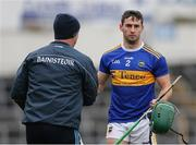 23 February 2020; Cathal Barrett of Tipperary with Tipperary manager Liam Sheedy following his substitution during the Allianz Hurling League Division 1 Group A Round 4 match between Tipperary and Westmeath at Semple Stadium in Thurles, Co Tipperary. Photo by Michael P Ryan/Sportsfile