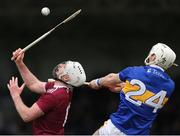 23 February 2020; Derek McNicholas of Westmeath in action against Craig Morgan of Tipperary during the Allianz Hurling League Division 1 Group A Round 4 match between Tipperary and Westmeath at Semple Stadium in Thurles, Co Tipperary. Photo by Michael P Ryan/Sportsfile
