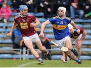 23 February 2020; Joey Boyle of Westmeath in action against Craig Morgan of Tipperary during the Allianz Hurling League Division 1 Group A Round 4 match between Tipperary and Westmeath at Semple Stadium in Thurles, Co Tipperary. Photo by Michael P Ryan/Sportsfile