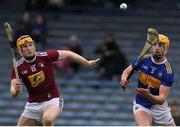 23 February 2020; Barry Heffernan of Tipperary in action against Niall Mitchel of Westmeath during the Allianz Hurling League Division 1 Group A Round 4 match between Tipperary and Westmeath at Semple Stadium in Thurles, Co Tipperary Photo by Michael P Ryan/Sportsfile