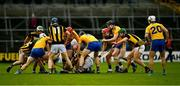 23 February 2020; Players from both teams go in search of the sliotar during the Allianz Hurling League Division 1 Group B Round 4 match between Kilkenny and Clare at UPMC Nowlan Park in Kilkenny. Photo by Ray McManus/Sportsfile