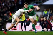 23 February 2020; Jacob Stockdale of Ireland is tackled by Jonny May of England during the Guinness Six Nations Rugby Championship match between England and Ireland at Twickenham Stadium in London, England. Photo by Ramsey Cardy/Sportsfile