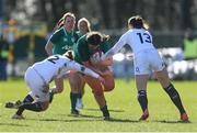 23 February 2020; Judy Bobbett of Ireland in action during the Women's Six Nations Rugby Championship match between England and Ireland at Castle Park in Doncaster, England.  Photo by Simon Bellis/Sportsfile