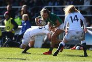 23 February 2020; Sarah McKenna of England in action against Aoife Doyle of Ireland during the Women's Six Nations Rugby Championship match between England and Ireland at Castle Park in Doncaster, England.  Photo by Simon Bellis/Sportsfile