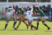 23 February 2020; Aoife McDermott of Ireland in action during the Women's Six Nations Rugby Championship match between England and Ireland at Castle Park in Doncaster, England.  Photo by Simon BellisSportsfile