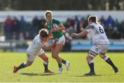 23 February 2020; Eimear Considine of Ireland in action against Sarah Bern of England during the Women's Six Nations Rugby Championship match between England and Ireland at Castle Park in Doncaster, England.  Photo by Simon Bellis/Sportsfile