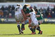 23 February 2020; Aoife McDermott of Ireland in action during the Women's Six Nations Rugby Championship match between England and Ireland at Castle Park in Doncaster, England.  Photo by Simon Bellis/Sportsfile