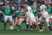 23 February 2020; Laura Feely of Ireland in action against Vicky Fleetwood of England during the Women's Six Nations Rugby Championship match between England and Ireland at Castle Park in Doncaster, England.  Photo by Simon Bellis/Sportsfile
