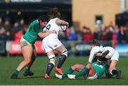 23 February 2020; Judy Bobbett of Ireland tackles Harriet Millar-Mills of England during the Women's Six Nations Rugby Championship match between England and Ireland at Castle Park in Doncaster, England.  Photo by Simon Bellis/Sportsfile
