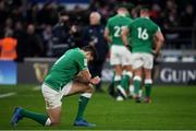 23 February 2020; Jacob Stockdale of Ireland looks dejected following the Guinness Six Nations Rugby Championship match between England and Ireland at Twickenham Stadium in London, England. Photo by Ramsey Cardy/Sportsfile