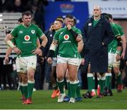 23 February 2020; Peter O'Mahony and Andrew Porter of Ireland look dejected following the Guinness Six Nations Rugby Championship match between England and Ireland at Twickenham Stadium in London, England. Photo by Ramsey Cardy/Sportsfile
