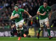 23 February 2020; Caelan Doris, left, and James Ryan of Ireland during the Guinness Six Nations Rugby Championship match between England and Ireland at Twickenham Stadium in London, England. Photo by Ramsey Cardy/Sportsfile