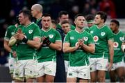 23 February 2020; John Cooney of Ireland applauds fans following the Guinness Six Nations Rugby Championship match between England and Ireland at Twickenham Stadium in London, England. Photo by Ramsey Cardy/Sportsfile
