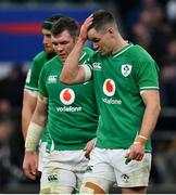 23 February 2020; Peter O'Mahony, left, and Jonathan Sexton of Ireland after the Guinness Six Nations Rugby Championship match between England and Ireland at Twickenham Stadium in London, England. Photo by Brendan Moran/Sportsfile