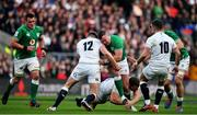 23 February 2020; Dave Kilcoyne of Ireland is tackled by George Kruis and Owen Farrell of England during the Guinness Six Nations Rugby Championship match between England and Ireland at Twickenham Stadium in London, England. Photo by Brendan Moran/Sportsfile
