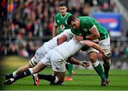 23 February 2020; CJ Stander of Ireland is tackled by Owen Farrel and Sam Underhilll of England during the Guinness Six Nations Rugby Championship match between England and Ireland at Twickenham Stadium in London, England. Photo by Brendan Moran/Sportsfile