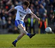 23 February 2020; Karl O'Connell of Monaghan shooting during the Allianz Football League Division 1 Round 4 match between Monaghan and Mayo at St Tiernach's Park in Clones, Monaghan. Photo by Oliver McVeigh/Sportsfile
