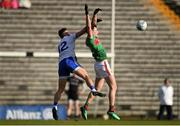 23 February 2020; Diarmuid O'Connor of Mayo in action against Dessie Ward of Monaghan during the Allianz Football League Division 1 Round 4 match between Monaghan and Mayo at St Tiernach's Park in Clones, Monaghan. Photo by Oliver McVeigh/Sportsfile
