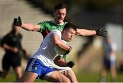 23 February 2020; Dessie Ward of Monaghan in action against Diarmuid O'Connor of Mayo during the Allianz Football League Division 1 Round 4 match between Monaghan and Mayo at St Tiernach's Park in Clones, Monaghan. Photo by Oliver McVeigh/Sportsfile