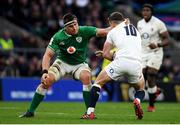 23 February 2020; George Ford of England is tackled by CJ Stander of Ireland during the Guinness Six Nations Rugby Championship match between England and Ireland at Twickenham Stadium in London, England. Photo by Ramsey Cardy/Sportsfile