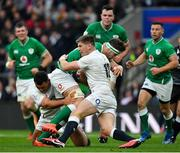 23 February 2020; Caelan Doris of Ireland is tackled by Ellis Genge and Owen Farrell of England during the Guinness Six Nations Rugby Championship match between England and Ireland at Twickenham Stadium in London, England. Photo by Brendan Moran/Sportsfile