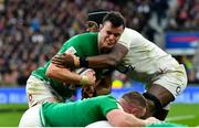 23 February 2020; James Ryan of Ireland is tackled by Maro Itoje of England during the Guinness Six Nations Rugby Championship match between England and Ireland at Twickenham Stadium in London, England. Photo by Brendan Moran/Sportsfile