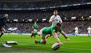 23 February 2020; Peter O'Mahony of Ireland fails to meet a crossfield kick to the try line by team-mate Jonathan Sexton during the Guinness Six Nations Rugby Championship match between England and Ireland at Twickenham Stadium in London, England. Photo by Brendan Moran/Sportsfile