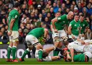23 February 2020; Owen Farrell of England holds the leg of CJ Stander of Ireland during the Guinness Six Nations Rugby Championship match between England and Ireland at Twickenham Stadium in London, England. Photo by Brendan Moran/Sportsfile