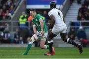 23 February 2020; Jonathan Sexton of Ireland plays with one boot during the Guinness Six Nations Rugby Championship match between England and Ireland at Twickenham Stadium in London, England. Photo by Ramsey Cardy/Sportsfile