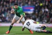 23 February 2020; Robbie Henshaw of Ireland in action against Owen Farrell of England during the Guinness Six Nations Rugby Championship match between England and Ireland at Twickenham Stadium in London, England. Photo by Ramsey Cardy/Sportsfile