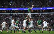 23 February 2020; Peter O'Mahony of Ireland and Maro Itoje of England during the Guinness Six Nations Rugby Championship match between England and Ireland at Twickenham Stadium in London, England. Photo by Ramsey Cardy/Sportsfile
