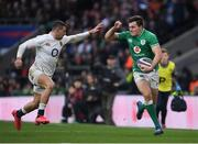 23 February 2020; Jacob Stockdale of Ireland and Jonny May of England during the Guinness Six Nations Rugby Championship match between England and Ireland at Twickenham Stadium in London, England. Photo by Ramsey Cardy/Sportsfile