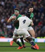 23 February 2020; Caelan Doris of Ireland in action against Maro Itoje of England during the Guinness Six Nations Rugby Championship match between England and Ireland at Twickenham Stadium in London, England. Photo by Ramsey Cardy/Sportsfile