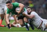 23 February 2020; John Cooney of Ireland in action against Luke Cowan-Dickie during the Guinness Six Nations Rugby Championship match between England and Ireland at Twickenham Stadium in London, England. Photo by Ramsey Cardy/Sportsfile