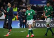23 February 2020; Conor Murray, left, Keith Earls, centre, and Ultan Dllane of Ireland following the Guinness Six Nations Rugby Championship match between England and Ireland at Twickenham Stadium in London, England. Photo by Ramsey Cardy/Sportsfile