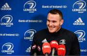 24 February 2020; Peter Dooley speaking during a Leinster Rugby Press Conference at Leinster Rugby Headquarters in UCD, Dublin. Photo by Sam Barnes/Sportsfile