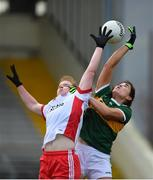 23 February 2020; Aislinn Desmond of Kerry in action against Niamh O'Neill of Tyrone during the Lidl Ladies National Football League Division 2 Round 4 match between Kerry and Tyrone at Fitzgerald Stadium in Killarney, Kerry. Photo by Diarmuid Greene/Sportsfile