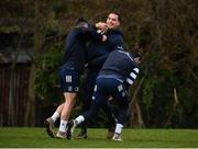 24 February 2020; James Lowe, centre, with Jimmy O'Brien, left, and Barry Daly during Leinster Rugby Squad Training at Leinster Rugby Headquarters at Rosemount in UCD, Dublin. Photo by Sam Barnes/Sportsfile