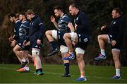 24 February 2020;  Jack Conan, centre, Rhys Ruddock, second from right and Seán Cronin, far right, during Leinster Rugby Squad Training at Leinster Rugby Headquarters at Rosemount in UCD, Dublin. Photo by Sam Barnes/Sportsfile