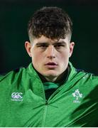 21 February 2020; Alex Soroka of Ireland prior to the Six Nations U20 Rugby Championship match between England and Ireland at Franklin's Gardens in Northampton, England. Photo by Brendan Moran/Sportsfile