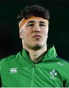 21 February 2020; David McCann of Ireland prior to the Six Nations U20 Rugby Championship match between England and Ireland at Franklin's Gardens in Northampton, England. Photo by Brendan Moran/Sportsfile