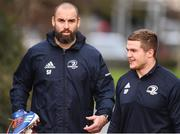 24 February 2020; Scott Fardy, left, and Scott Penny arrive ahead of Leinster Rugby Squad Training at Leinster Rugby Headquarters at Rosemount in UCD, Dublin. Photo by Sam Barnes/Sportsfile