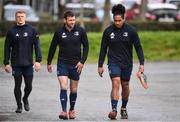 24 February 2020; Fergus McFadden, left, and Joe Tomane arrive ahead of Leinster Rugby Squad Training at Leinster Rugby Headquarters at Rosemount in UCD, Dublin. Photo by Sam Barnes/Sportsfile